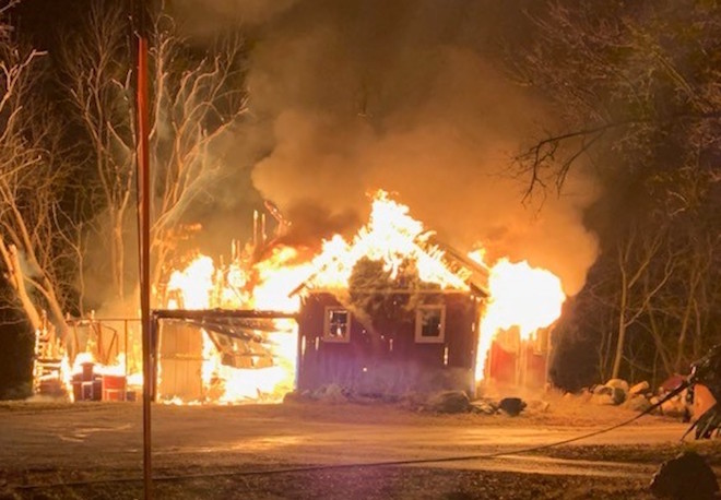 Family escapes fire on property